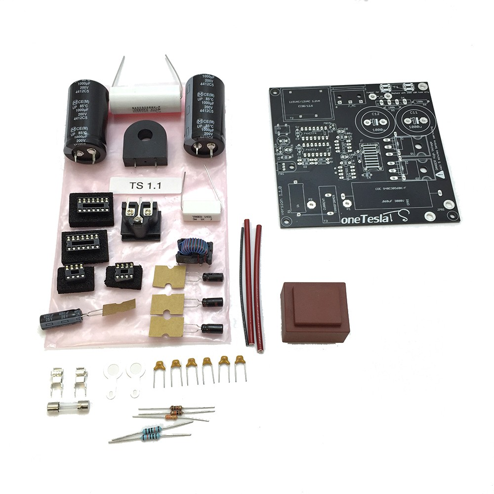 Main board replacement parts kit for the oneTeslaTS musical Tesla coil kit