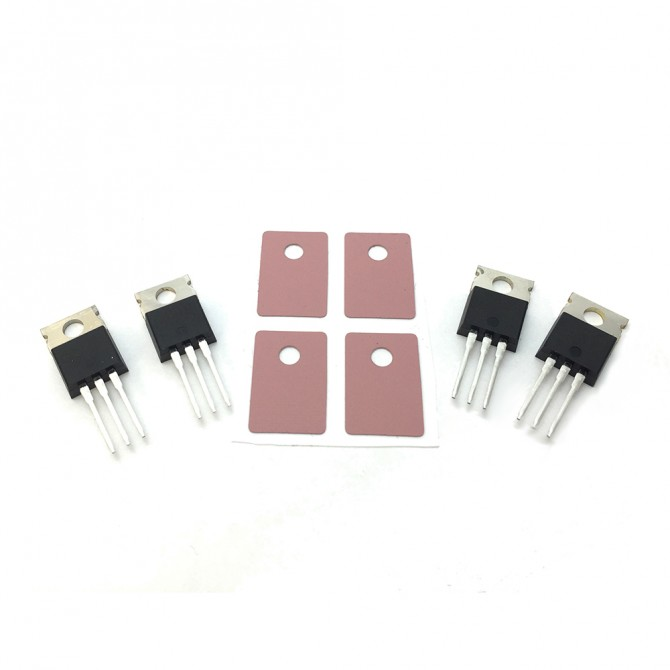 IGBTs with sil-pads for the tinyTesla musical Tesla coil kit, set of 4, with rectifier