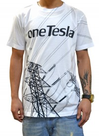 oneTesla graphic T-shirt - men's style
