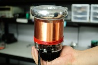 Shown in this image with an old style of heat sink, tinyTesla fits into the palm of your hand. , SSTC kit