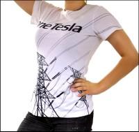 oneTesla graphic T-shirt - women's style