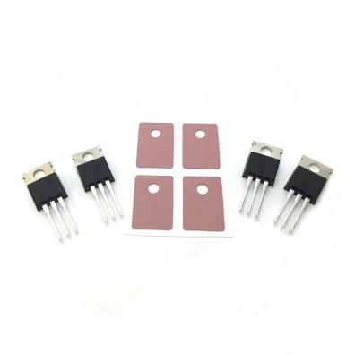 IGBTs with sil-pads for tinyTesla, set of 4