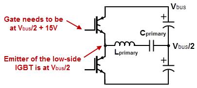 Half Bridge Gate Drive - DRSSTC schematics