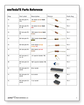 oneTeslaTS Parts Bag Reference