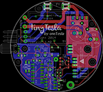 tinyTesla board - electromagnetism science fair projects