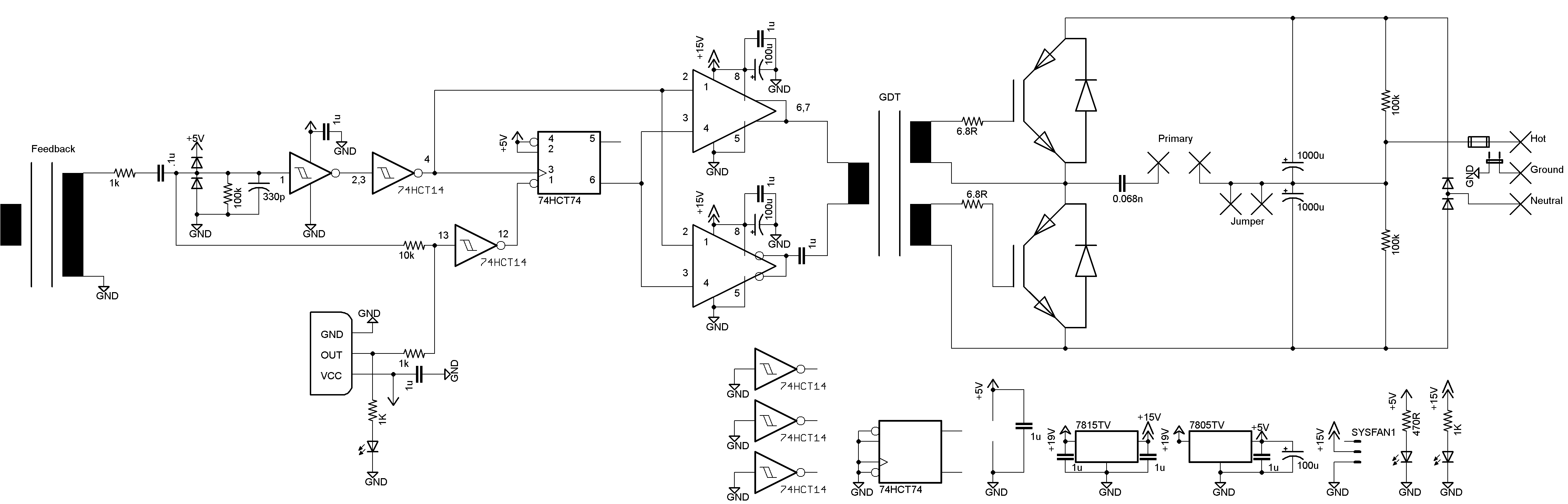 oneTesla schematic 110V version - tesla coil plans