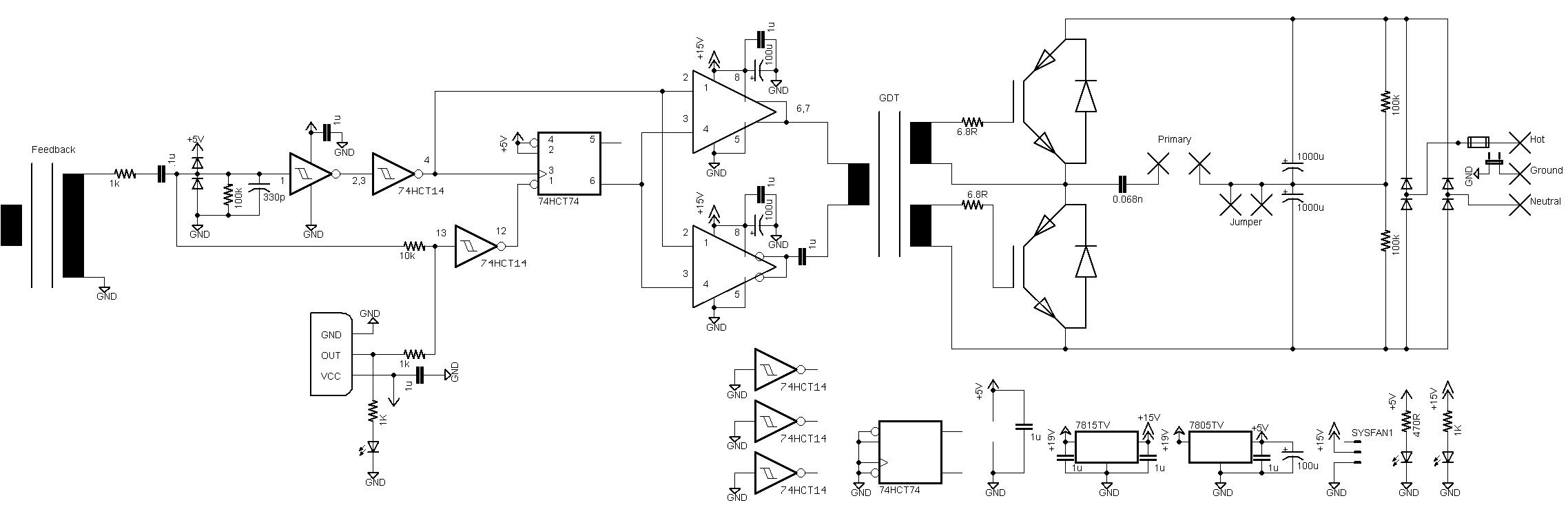 oneTesla Schematic 220V - flame speaker