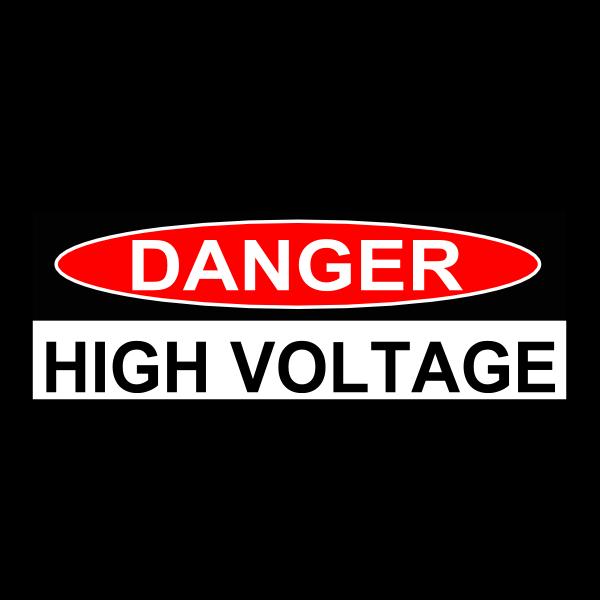 Danger High Voltage sticker