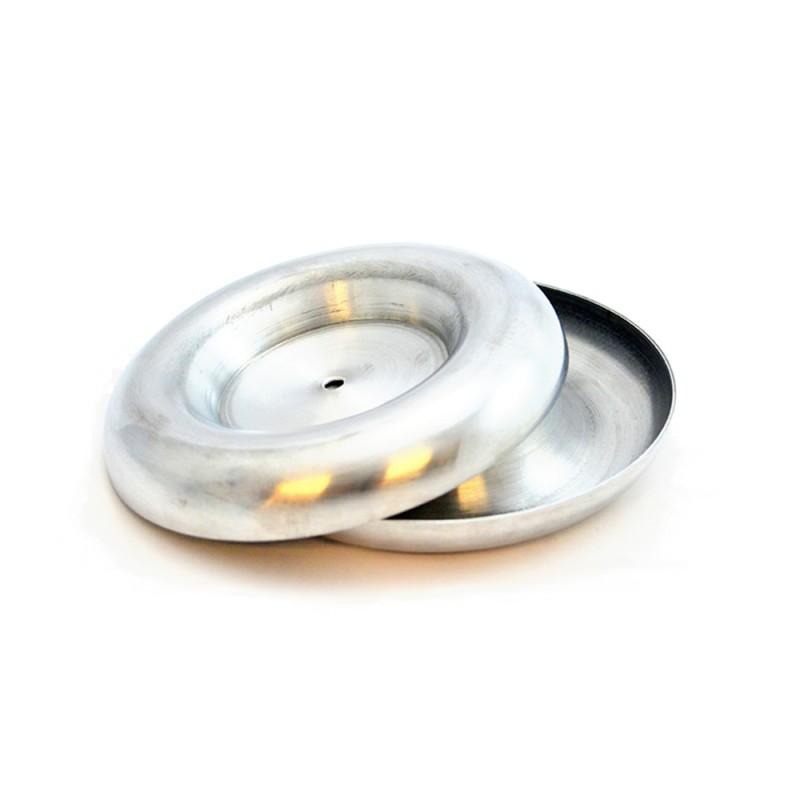 """oneTeslaTS 6"""" O.D. Spun Aluminum Toroid / Tesla coil topload for use with the oneTeslaTS musical Tesla coil kit"""