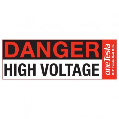 """""""Danger High Voltage"""" Warning Sticker"""