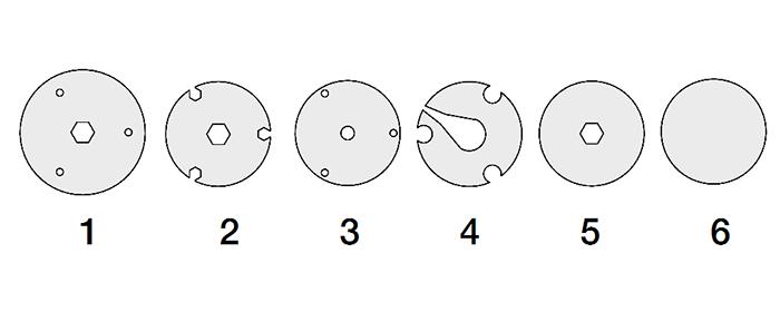 Endcaps labeled