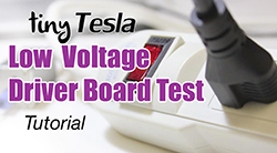 Low voltage driver board test